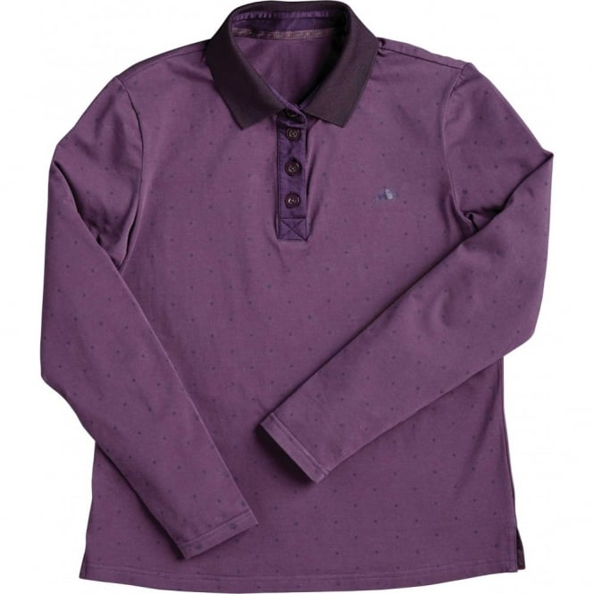 Harry Hall Belby Ladies Polo Shirt Aubergine