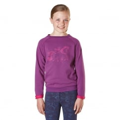 Cherrybank Junior Pony Print Sweatshirt Purple