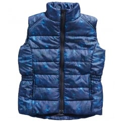 Cubley Horse Print Junior / Kids Gilet Navy