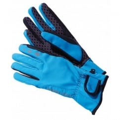 DWR Softshell Windproof Horse Riding Gloves Cobalt