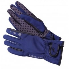 DWR Softshell Windproof Horse Riding Gloves Navy
