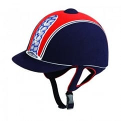 Legend Plus Adult Horse Riding Hat Navy/Red