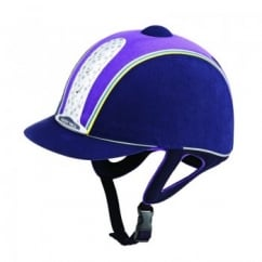 Legend Plus Junior Horse Riding Hat Navy/Purple