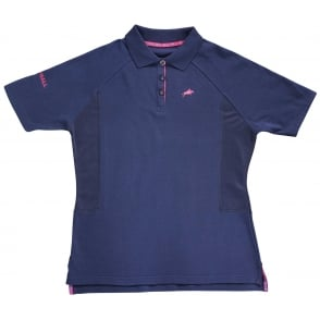 Harry Hall Maltby Ladies Polo Shirt Navy