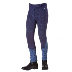 Mayhill Junior Jodhpurs Navy Blue