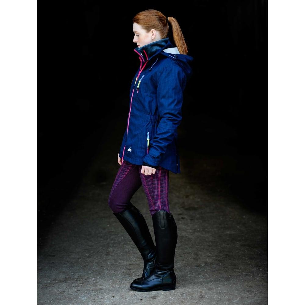Harry Hall Silkstone Ladies Jacket Navy - Riding jackets at Burnhills