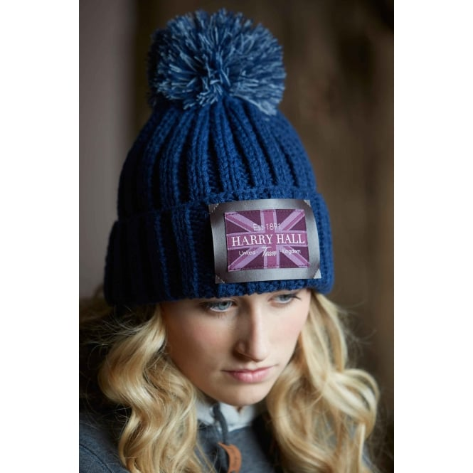 Harry Hall Harry Hall Team Knitted Hat Navy