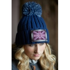 Harry Hall Team Knitted Hat Navy
