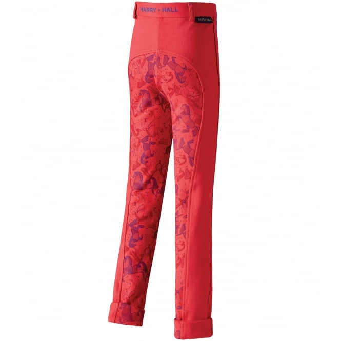 Harry Hall Todwick Junior / Kids Pony Print Jodhpurs Pink