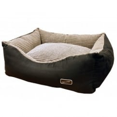 Hem And Boo Rectangular Chill Cord Dog Bed Black
