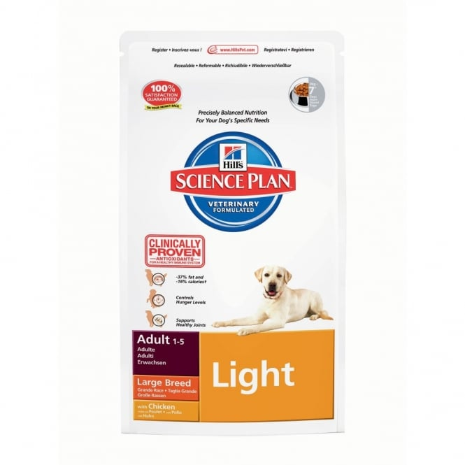 Hills Science Plan Canine Adult Light - Chicken - Large Breed - 12Kg