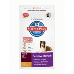 Hills Science Plan Canine Adult Sensitive Stomach - Chicken, Egg and Rice - 12Kg
