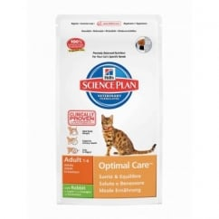 Hills Science Plan Feline Adult Optimal Care - Rabbit - 2Kg