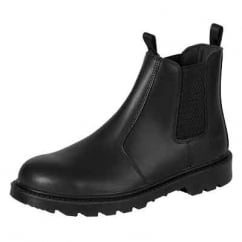 Classic Steel Toe Cap Safety Dealer Boots Black