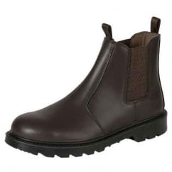 Classic Steel Toe Cap Safety Dealer Boots Brown