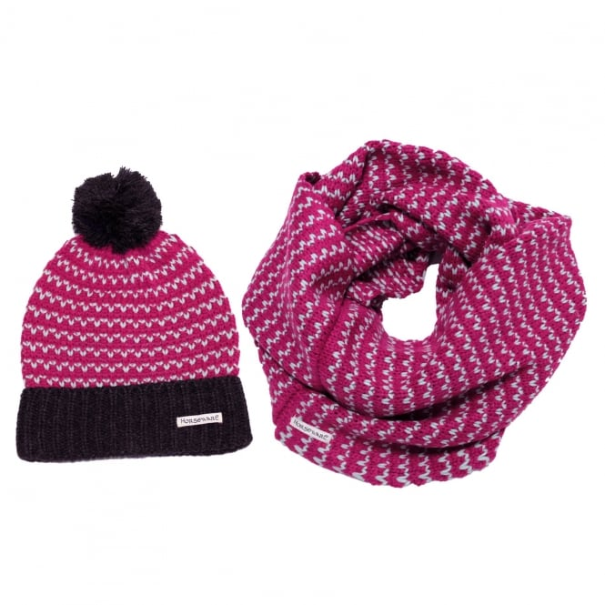 Horseware Bobble Hat & Snood OneSize Fuchsia Pink
