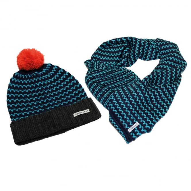 Horseware Bobble Hat & Snood OneSize Navy
