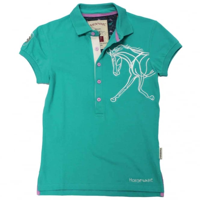Horseware Flamboro Polo Pool Green