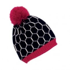 Girls Hat OneSize Navy / Pink