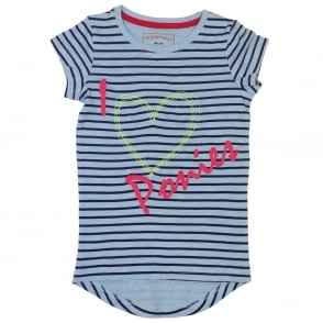 Horseware Girls I love Ponies Novelty Tee Striped T-Shirt