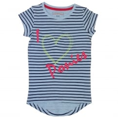 Girls I love Ponies Novelty Tee Striped T-Shirt