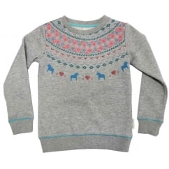 Girls / Kids Sweater Top Fair Isle