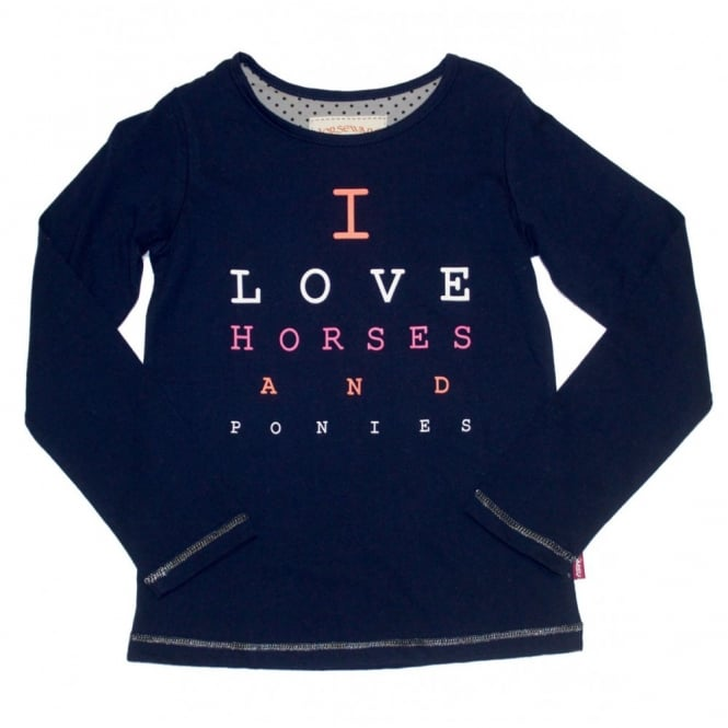 Horseware Girls Long Sleeve Top Letter Print