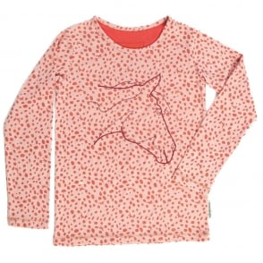 Horseware Girls Long Sleeve Top Soft Pink