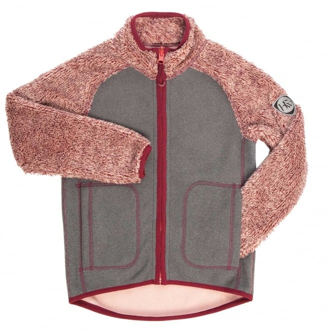 Horseware Kids Reversible Fleece Pink/Charcoal