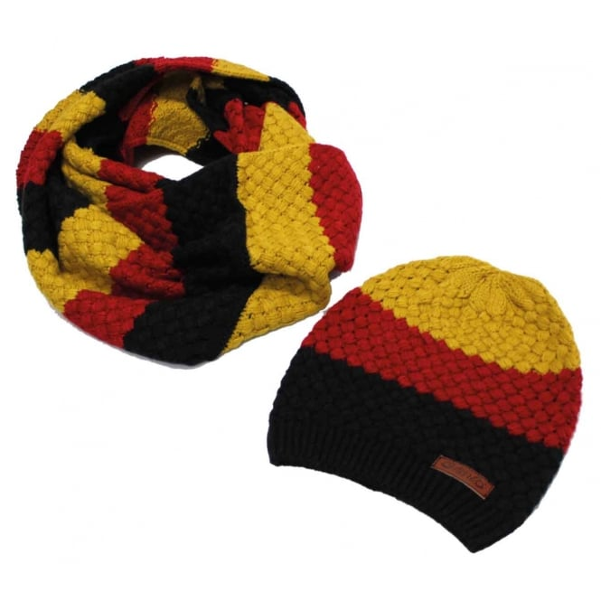 Horseware Knitted Hat And Snood Set Sunflower