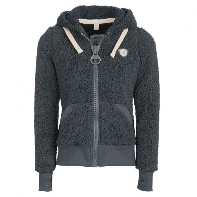 Horseware Ladies Super Fluffy Softie Hooded Fleece Pewter