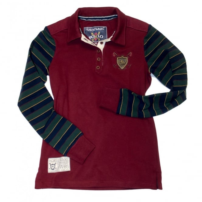 Horseware Lucy Ladies Rugby Shirt Cordovan Wine