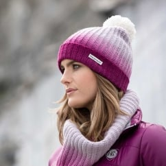 Ombre Hat & Snood Berry