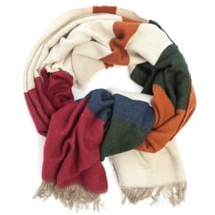 Oversized Blanket Scarf Autumnal Stripe