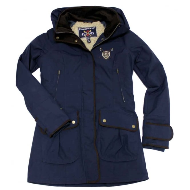 Horseware Polo Elina Parka Jacket Black Iris (Dark Blue)