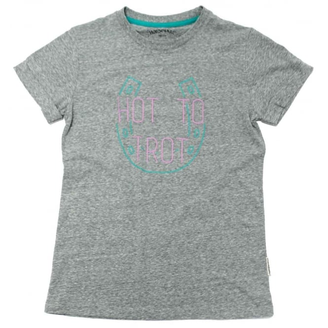 Horseware Summer Fun Tee Ladies T-Shirt Charcoal