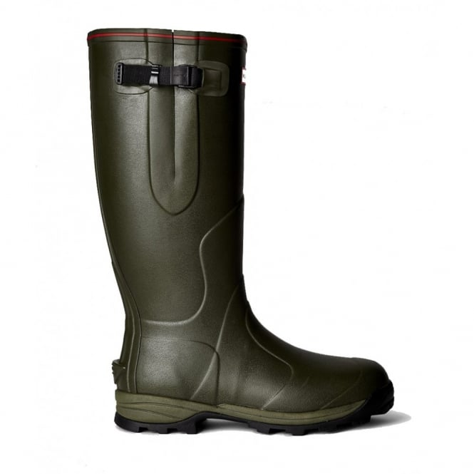 Hunter Balmoral 3mm Neoprene-Lined Wellington Boots - Dark Olive