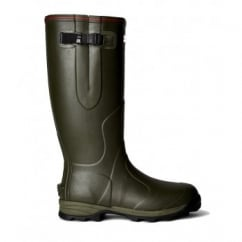 Balmoral 3mm Neoprene-Lined Wellington Boots - Dark Olive