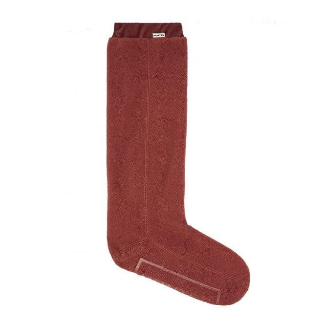 Hunter Field Fitted Tall Boot Socks Red Chestnut