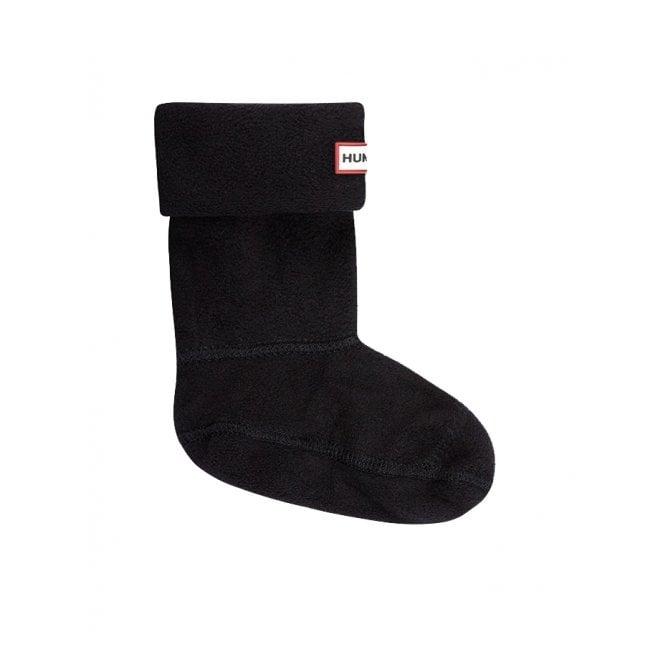 c54d18c87 Hunter Kids Fleece Boot Socks (Welly Socks) Black at Burnhills