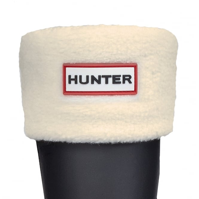 Hunter Kids Fleece Boot Socks (Welly Socks) Cream