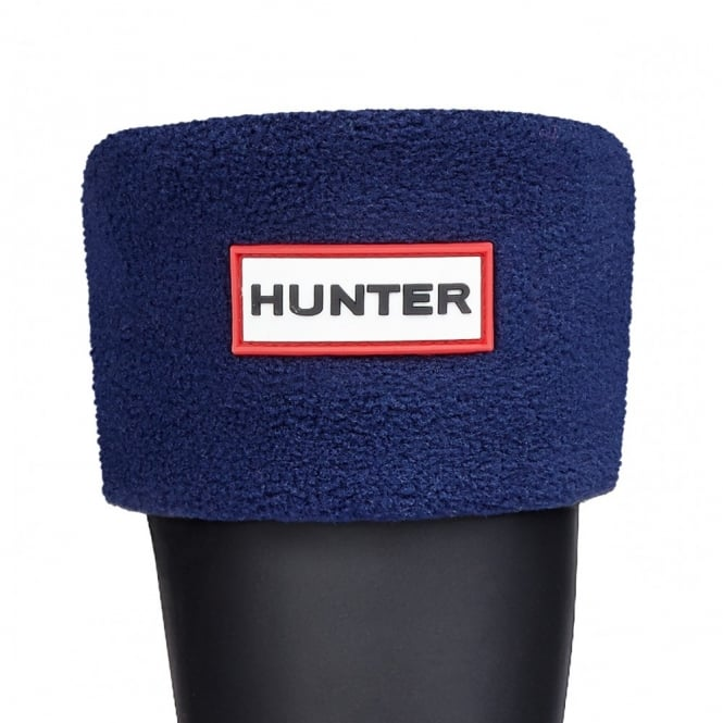 Hunter Kids Fleece Boot Socks (Welly Socks) Navy