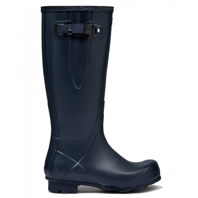 Hunter Men's Norris Field Side Adjustable Wellington Boots Navy