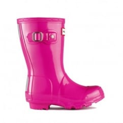 New Original Kids Gloss Wellington Boots - Gloss Lipstick (Pink)