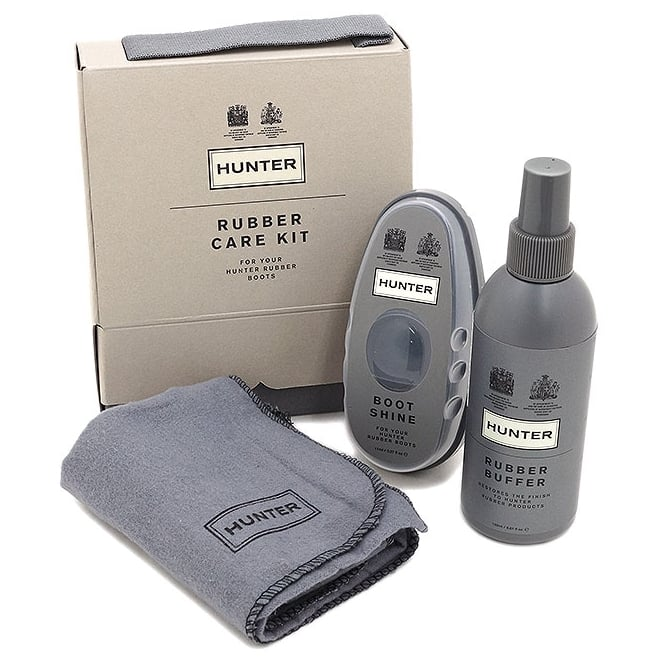 Hunter Rubber Care Kit - Boot Buffer and Instant Shine for Hunter Wellies