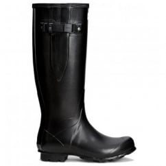 Women's Norris Field Side Adjustable Wellington Boots Black