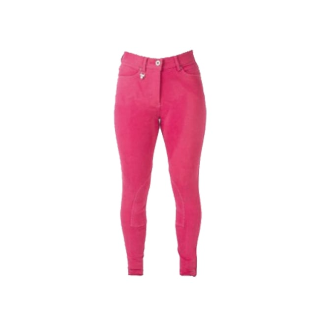 Hy Performance Bright Denim Ladies Breeches Hot Pink