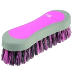 Hy Shine Pro Groom Face Brush Grey & Pink