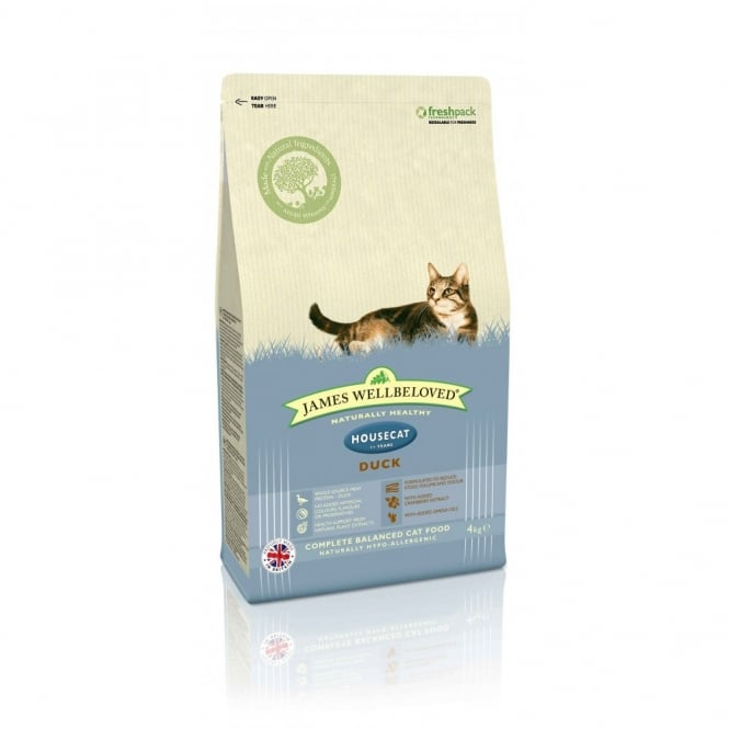 James Wellbeloved Housecat Complete Adult Cat Food Duck