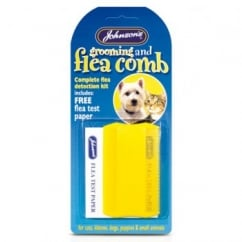 Cat and Dog Flea & Grooming Comb + Free Flea Test Paper